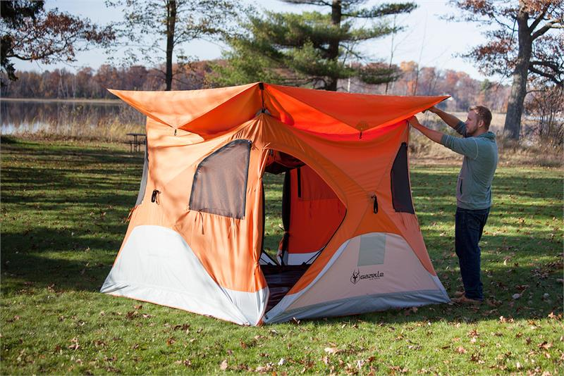 & 22272 Feature Loaded Gazelle Pop Up Quick Tent