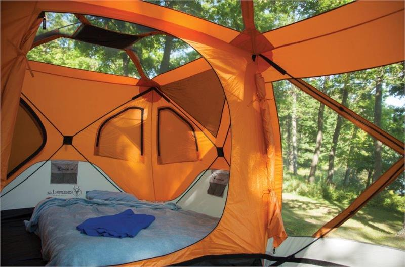26800 Gazelle 8 Man Camping Hub Tent W Screen Room