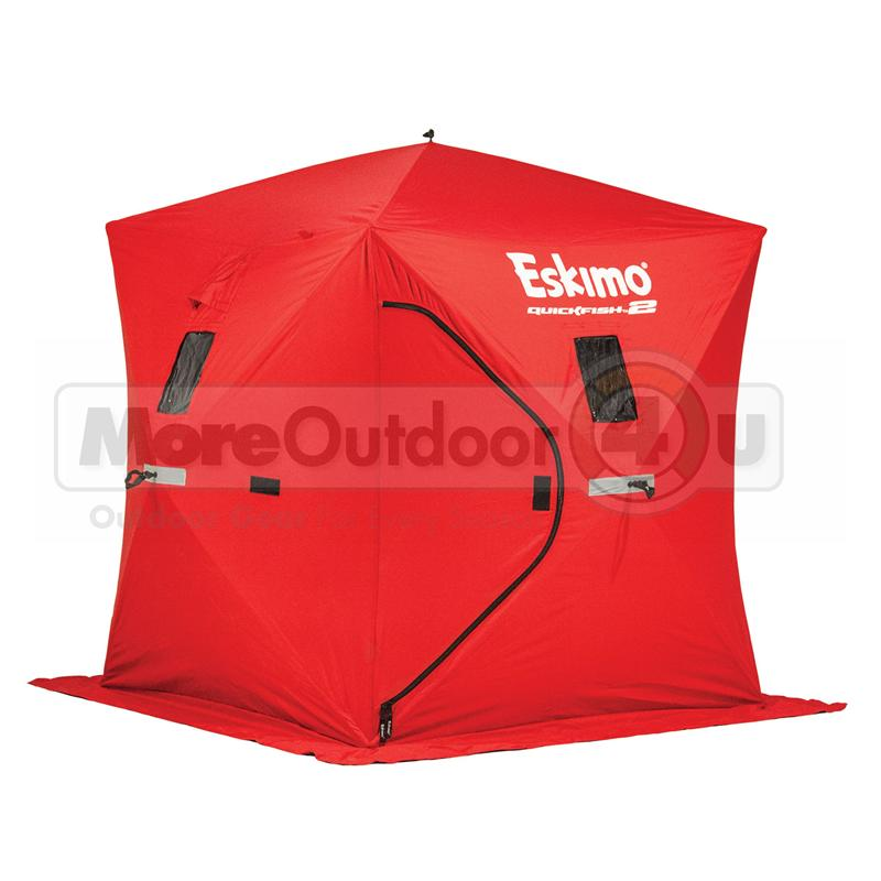 69151 eskimo quickfish 2 man 60 second pop up portable ice shelter