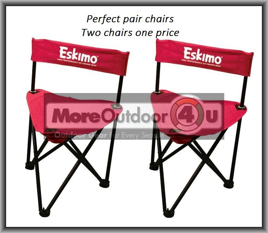 69813 eskimo ice fishing gear folding chair pairs with for Ice fishing chairs