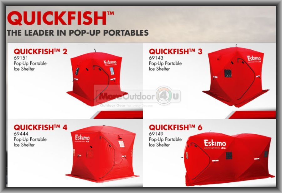 Personal Pop Up Shelter : New eskimo insulated quickfish pop up portable ice