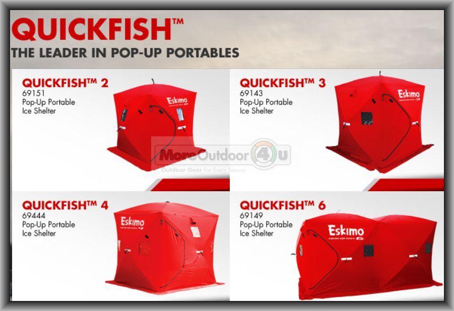 Pop Up Shanty : Eskimo man pop up portable ice shelter quickfish